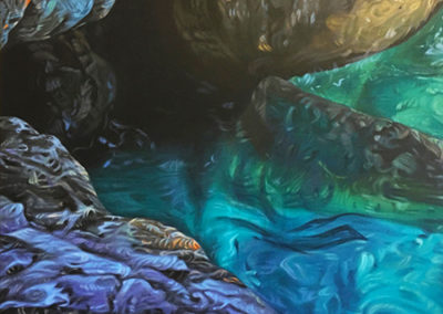 Acqua_e_Rocce, 60 x 60cm, acrylic on canvas, AVAILABLE