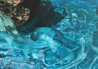 Sardegna Tre, 80 x 80cm acrylic on canvas, AVAILABLE